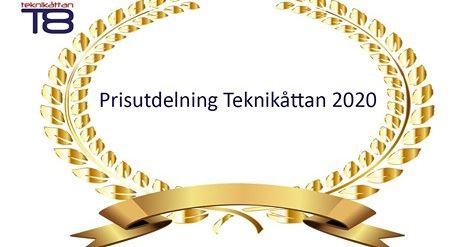 Prisutdelning Teknikåttan 2020