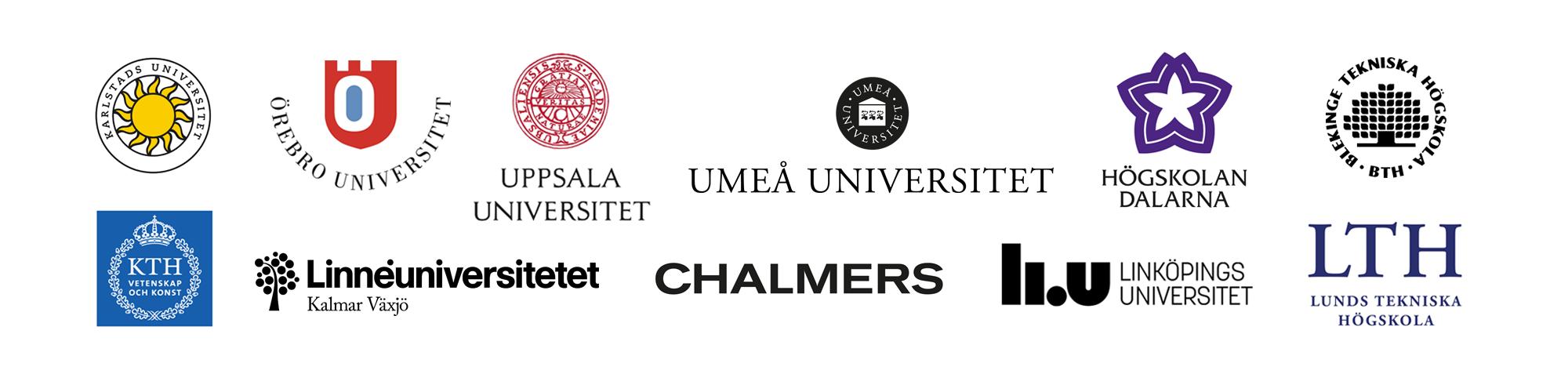 Logotyper samarbetande parter